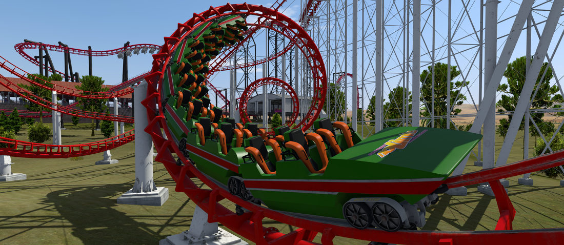 how to draw a realistic roller coaster